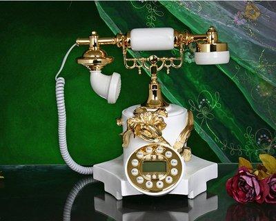 福利館◎【復古風仿電話x免運優惠中x贈USB燈】GDB-6001 花前月下 經典電話