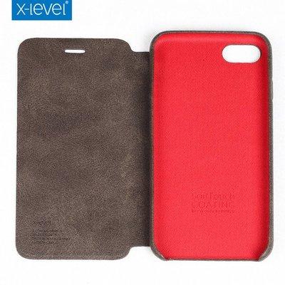 【Insist】x-level蘋果iphone7手機殼7plus翻蓋皮套i7複古皮紋防摔保護套潮