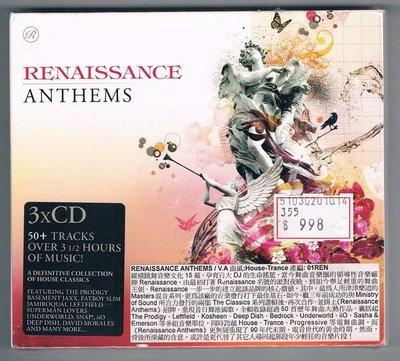 [鑫隆音樂]西洋CD-RENAISSANCE ANTHEMS  3CD   (全新)