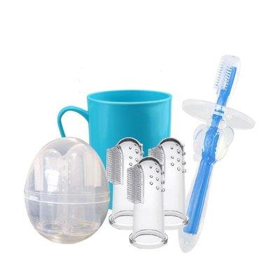 嬰兒牙刷寶寶嬰幼兒硅膠手指套牙刷軟毛訓練0-1-2-3歲兒童乳牙刷