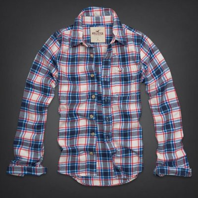 Hollister (HCO) 2013 HUNTINGTON BEACH FLANNEL SHIRT 長袖法蘭絨襯衫
