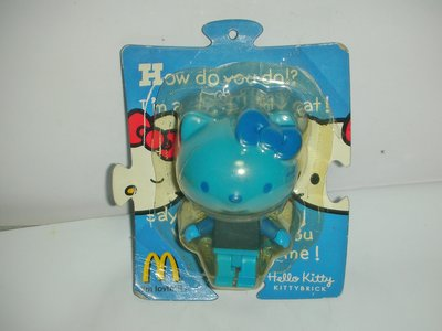 aaL皮1商旋.全新附盒2006年麥當勞發行Hello Kitty Brick凱蒂貓粉藍色公仔!--距今已有12年歷史!