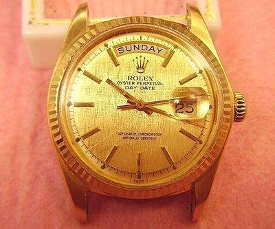 Rolex勞力士 1803 DAY-DATE-18K金古董錶~附原始保單~