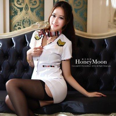 【CP-54】HoneyMoon蜜月假期~☆純白氣質空姐套裝,可當表演服/接待服