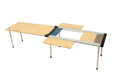 【燈聚】IGT 金屬燒烤組合桌3單位中套 IGT組合竹板桌 移動廚房 行動廚房 IGT金屬竹板摺疊組合桌 《超值套餐組》