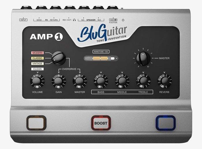《民風樂府》BluGuitar AMP1 真空管音箱頭100瓦 NANOTUBE 100W 地板式 全新到貨 數量有限