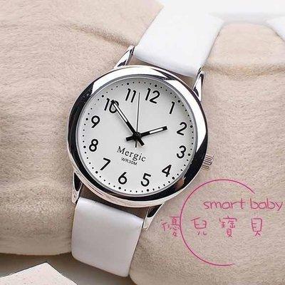 哆啦本鋪 手錶 簡約夜光皮帶學生手錶男女中小學考試防水石英錶數字式電子錶 D655