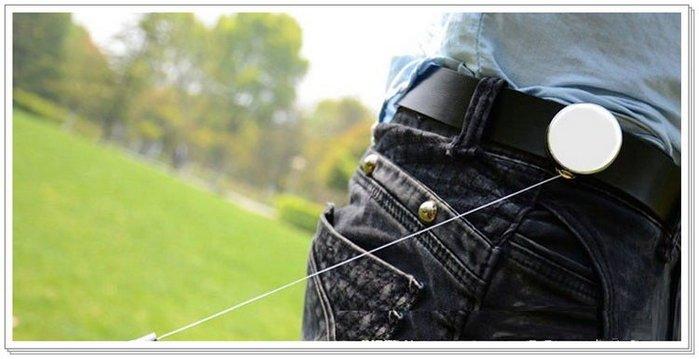 【EMS軍】不銹鋼伸縮繩防丟器   4cm寬/釣魚隨身工具
