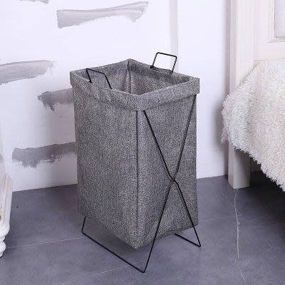 北歐可摺疊布藝臟衣籃臟衣服收納整理家用洗衣籃收納筐浴室衣服 igo