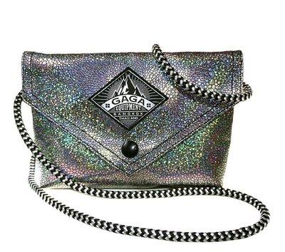 泰國GAGA包 曼谷設計師品牌 鑽石銀 收納包/ I PHONE 6 PLUS 手機包 /化妝包 / 夜店包