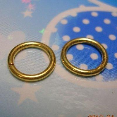 琥珀貓~【925純銀鍍K金材料配件】鍍24K金~開口C圈~5X0.8mm~一組4個