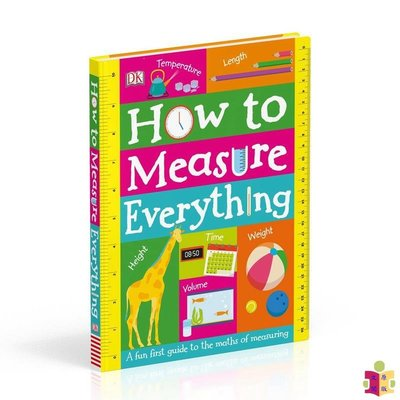 [文閲原版]DK如何巧量度 英文原版 How to Measure Everything 趣味數學量度繪本 紙板書 翻翻書 6-12歲