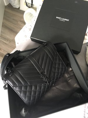YSL quilted leather