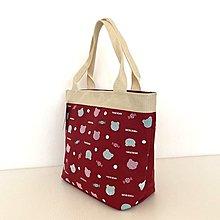 【YOGSBEAR】台灣製造 A5 手提袋 手提包 購物包 便當袋 餐袋 水餃包 手拿包 D51 紅