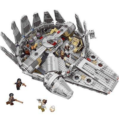 新風小鋪-樂高星球大戰系列千年隼號飛船積木拼裝戰機模型益智男孩子玩具
