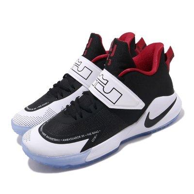=CodE= NIKE AMBASSADOR XII 魔鬼氈針織籃球鞋(黑白紅) BQ5436-001 LEBRON 男
