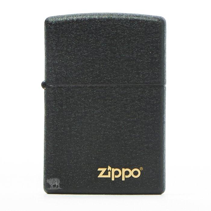 黑羊選物 Zippo 煤油打火機 經典黑裂質感 基本款機身 logo小金標 美國原廠 經典配件 菸友必備 適合送禮