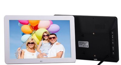 12寸寬屏全格式高清觸摸屏可放大縮小 圖片多功能數碼相框 廣告機