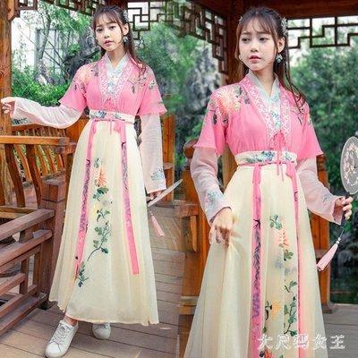 中大尺碼改良式漢服古風漢元素服飾改良漢服女夏古裝畢業照服裝中國風ZJ1818