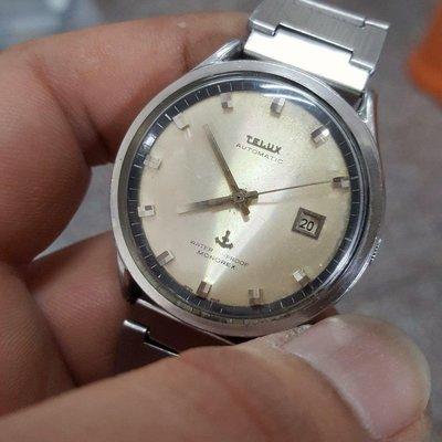☆真正老錶☆ TELUX 機械錶 <已保養>3.8/20 拉跳 極品老錶 識貨的別錯過了 A7