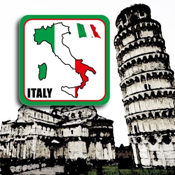 【國旗貼紙專賣店】義大利領土防水、抗UV旅行箱貼紙/各尺寸、多國都可客製/Italy