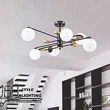 【168 Lighting】新穎交織《木藝吸頂燈》(兩款)6燈GD 20257-2