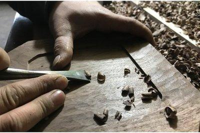 11b. 手製木餐具。HW17 *Classical* 黑胡桃木 手作 木器 點心碟