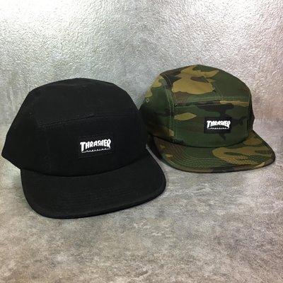 【FAITHFUL】THRASHER 5 Panel Hat【117125】五分割 黑/迷彩