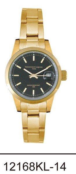 (六四三精品)Valentino coupeau(真品)(全不銹鋼)精準女錶(附保証卡)12168KL-14