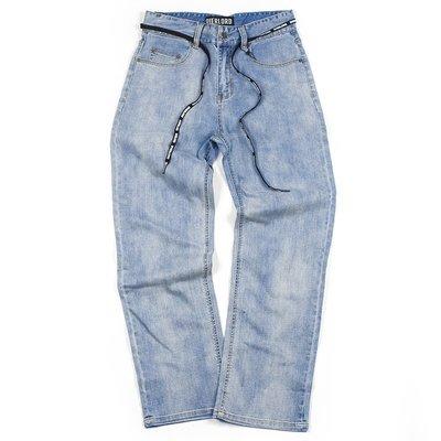 OVERLORD SKATEBOARDS JEANS 彈性 寬管 牛仔褲