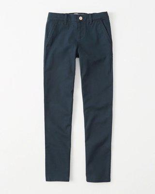 【天普小棧】a&f abercrombie pull-on straight chino直筒合身長褲Kids 15/16