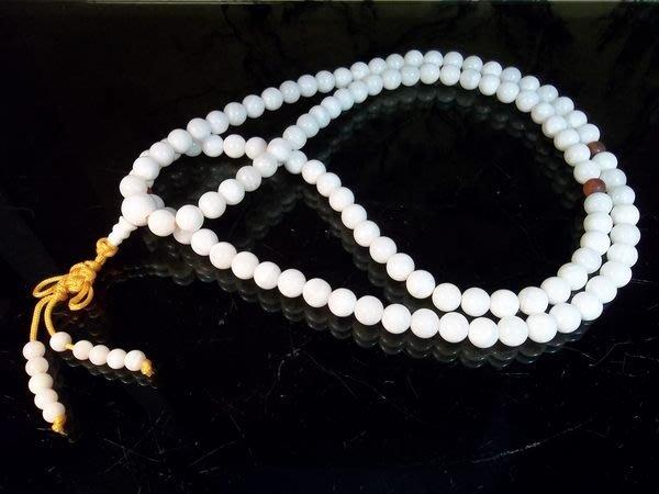 【精選】特價結緣分享:450元!白硨磲念珠佛珠串~108~112顆