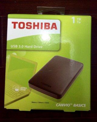 Toshiba 黑靚潮II 1TB USB3.0 2.5吋行動硬碟
