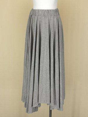貞新二手衣 韓 灰色棉質圓裙長裙F號(21383)