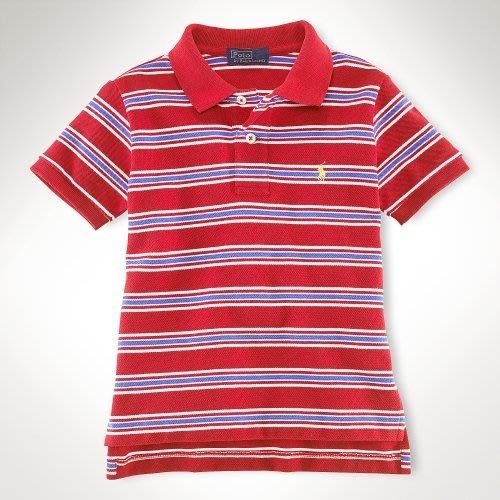 cocololo小舖:Polo Ralph Lauren 小男孩多彩條紋短袖網眼Polo衫 (18M) (64524)