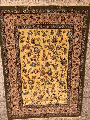 New Handmade Persian Carpet, 80% silk 20% lamb wool, size: 90cm x 130cm