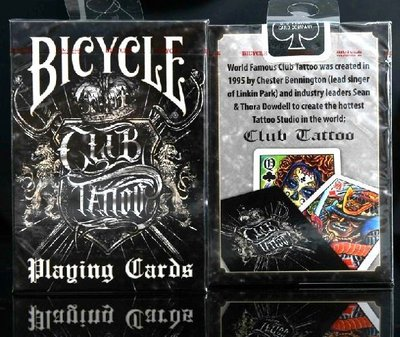 【USPCC撲克】撲克牌 BICYCLE Club Tattoo 刺青撲克
