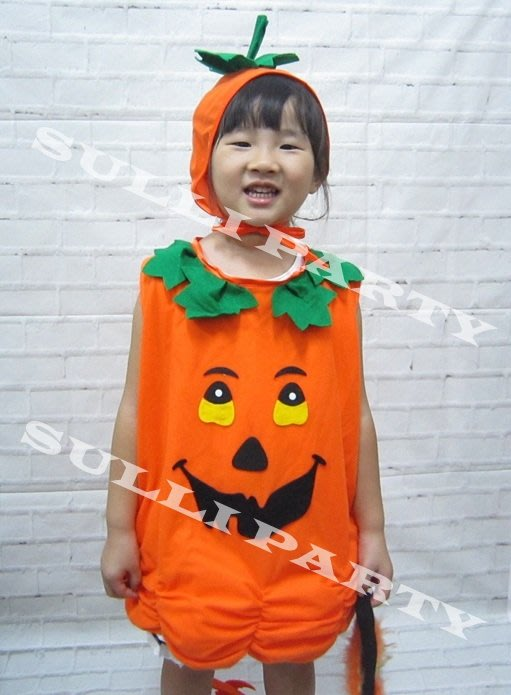 雪莉派對~兒童南瓜裝 女生南瓜裝 萬聖節派對 兒童變裝 可愛南瓜裝 變裝派對 萬聖節服裝 兒童南瓜衣服 MIT