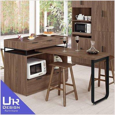 復古工業風諾艾爾4尺中島型多功能餐桌櫃(19Z40/905-1)