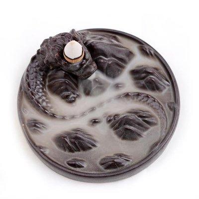 香爐倒流 陶瓷家用釉水工藝品茶具供奉裝飾熏香香薰爐