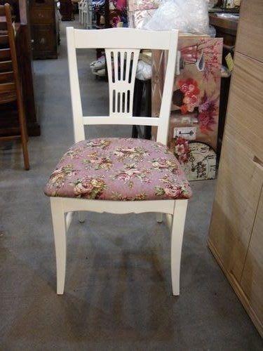 美生活館---艾蜜莉 復古白色 餐椅/書桌椅--僅有一只--特3500元