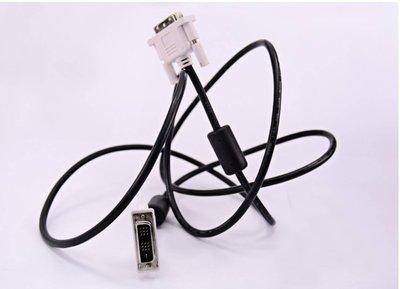 高清數位信號傳輸線 DVI 線公對公18+1無氧銅鍍鎳介面投影電腦連接磁環遮罩2m