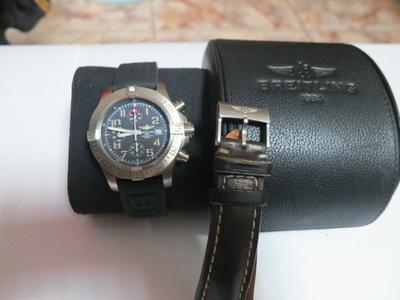 Breitling 百年靈 AVENGER BANDIT 復仇者戰機 自動上鍊三眼計時機械錶