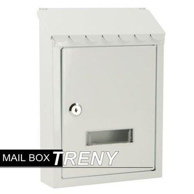 【TRENY直營】自然風情-鄉村白信箱 信箱 鑄鐵信箱 信件箱 意見箱 白色信箱 掛號信件  7541
