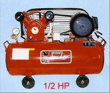 ╭☆優質五金☆╮寶馬 皮帶式空壓機附1/2HP單相馬達-60L
