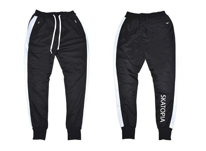 { POISON } SKATOPIA SIDE STRIPE JOGGER PANTS 微彈性布料細身版型側邊條縮腳褲