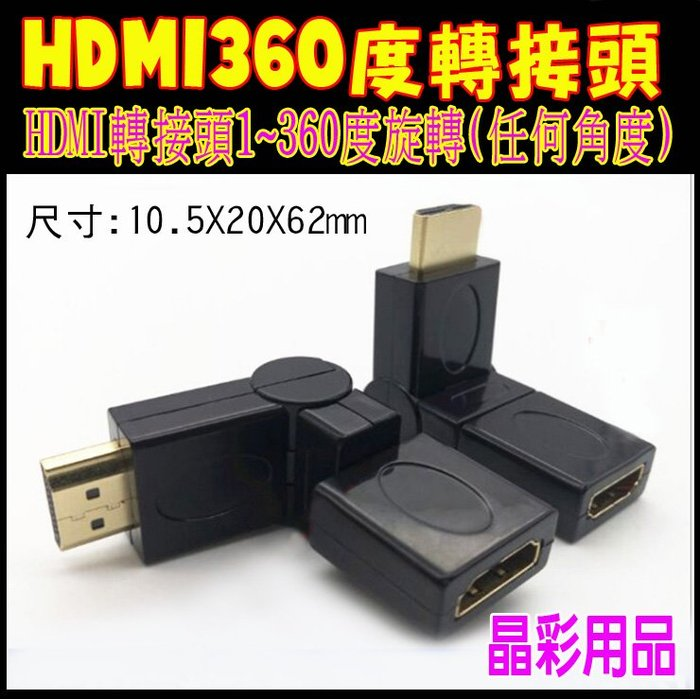 【台灣現貨】HDMI 360度轉接頭 HDMI接頭 HDMI 360度轉換接頭 HDMI連接頭360旋轉 HDMI