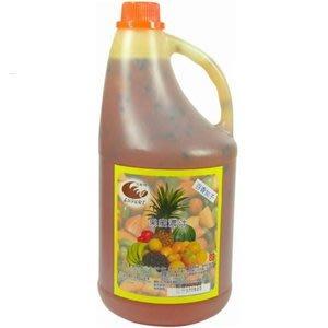 百香加籽濃縮汁-- 百香果顆粒醬調味糖漿 (2.5kg/罐)--【良鎂咖啡精品館】