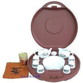 茶具輕鬆帶~茶之鄉茶具組(附茶壺、茶海、水盤、茶罐、茶巾、6飲杯)~品茗好心情