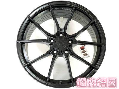 超鑫鋁圈 VERTINI RF1.2 19吋旋壓鋁圈 平光黑 5孔108 5孔112 5孔120 5孔114.3 輕量化